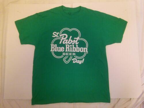 Pabst St.Patrick Shamrock T-Shirt Beer Sign ..Mens X Large..New