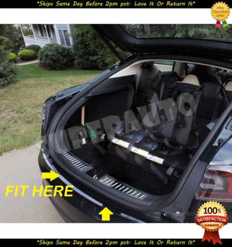 Rear Trunk Boot Bumper Plate Protector Steel For Tesla Model S