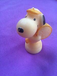Vintage-PEANUTS-Snoopy-Playing-Tennis-Hallmark-CANDLE