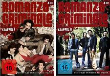 8 DVDs * ROMANZO CRIMINALE - STAFFEL 1 + 2 IM SET  FSK 18 # NEU OVP &