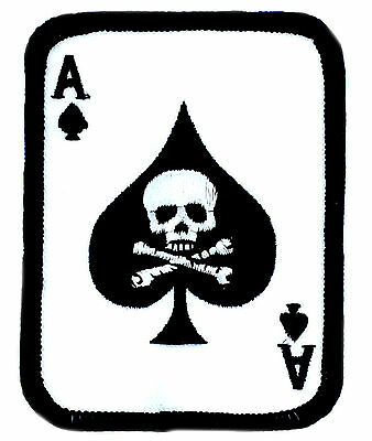 PATCH PATCHES AS OF SPADES DEATH CARD MOTORCYCLE JACKET BIKER VEST MILITARY