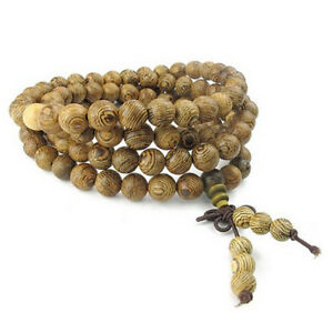 Joya-Pulsera-Hombre-Mujer-Collar-Mala-de-oracion-perla-budista-tibetano-MadeS3