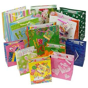 12pc gift bags set birthday valentines easter halloween bulk small stock photo negle