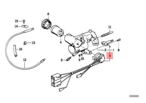 Genuine BMW E30 Cabrio Coupe Sedan Ignition Lock Switch OEM 61321374967
