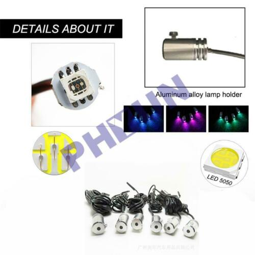 10M 10 in 1 RGB LED Car Decor Neon EL Fiber Optical Strip Light BT App Control