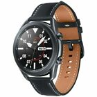 Samsung Galaxy Watch3 45mm Caja Acero Inoxidable en Plata, Correa Cuero en Negro, Reloj Inteligente (SM-R840NZKAEUB)