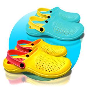 Clogs-Schuhe-Hausschuh-Schlappen-36-41-Damen-Buben-Jungen-Slobby-gelocht