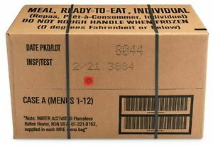 12ct case MRE Meals Ready-to-eat US Military Surplus
