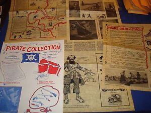 Pirates Collection-4 Antiqued Parchment Replics-Treasu<wbr/>re Map++++