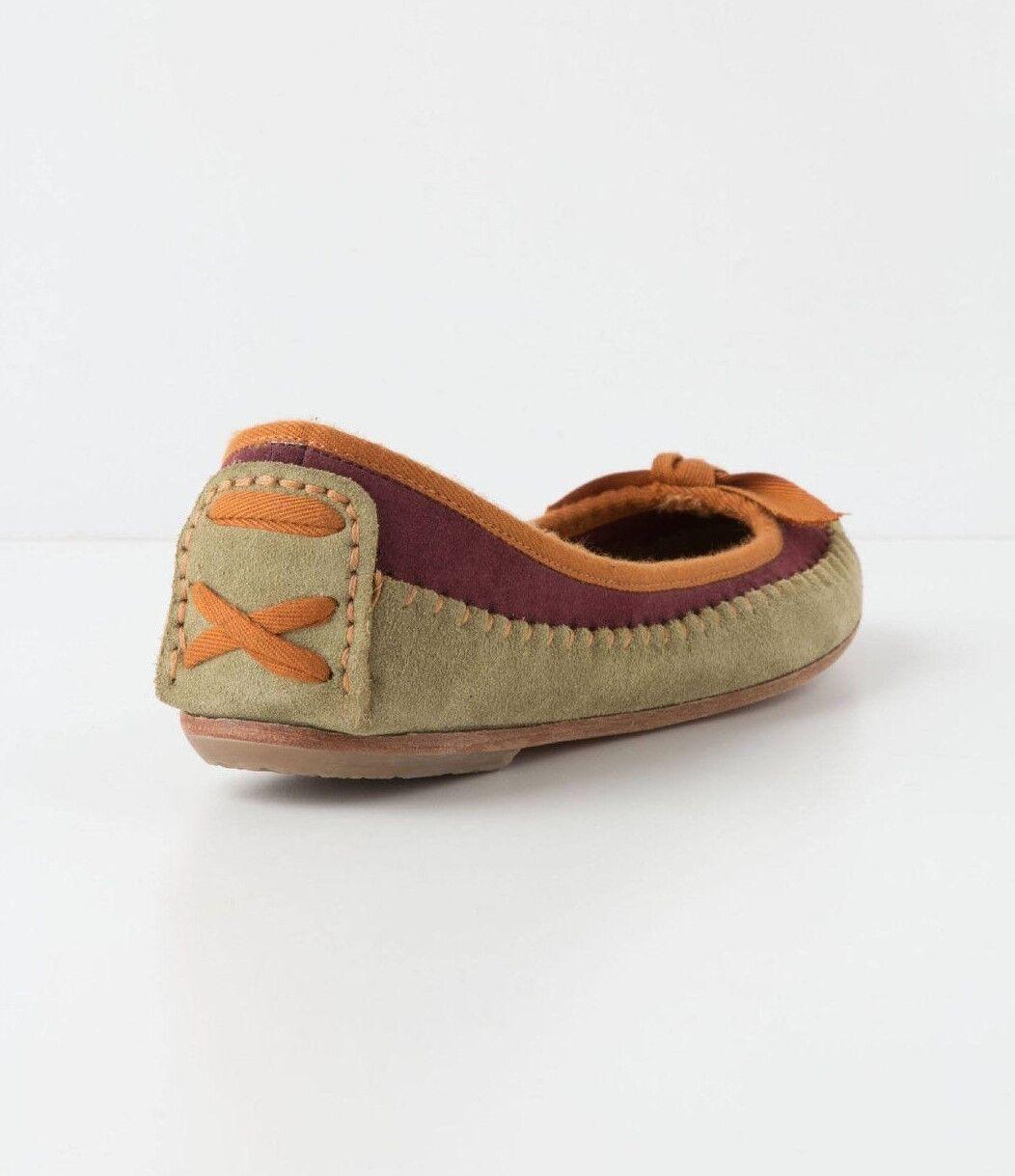 Anthropologie JASPER JEERA 37 Moccasin Suede Suede Moccasin Ballet Flats Schuhes  128 NWT 77af20