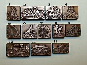 "12 VARIOUS ""BICYCLES"" Printing Blocks."