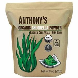 Anthony S Organic Chlorella Powder Rich Chlorophyll Broken