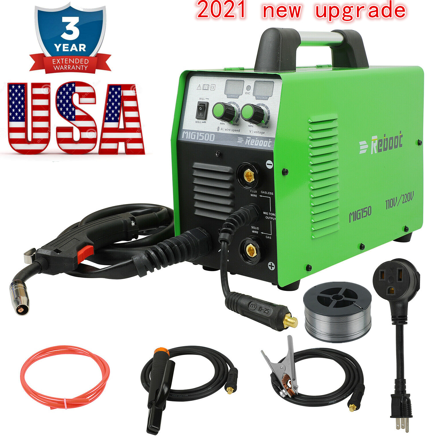 MIG Welder 150 Gas Gasless 110V 220V ARC Stick MMA Inverter 3 IN 1 150A Welding. Buy it now for 245.99