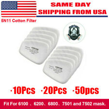 102050pcs 5n11 Cotton Filter Replacement For 6200 6800 7502 Respirator Filters