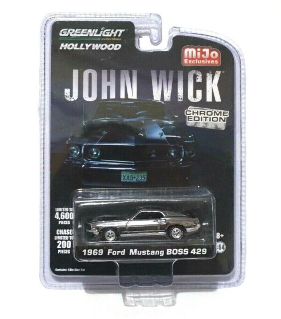 Mustang Boss 429 For Sale >> 1 64 John Wick 1969 Ford Mustang Boss 429 Chrome Limited Edition 0029 Of 4600