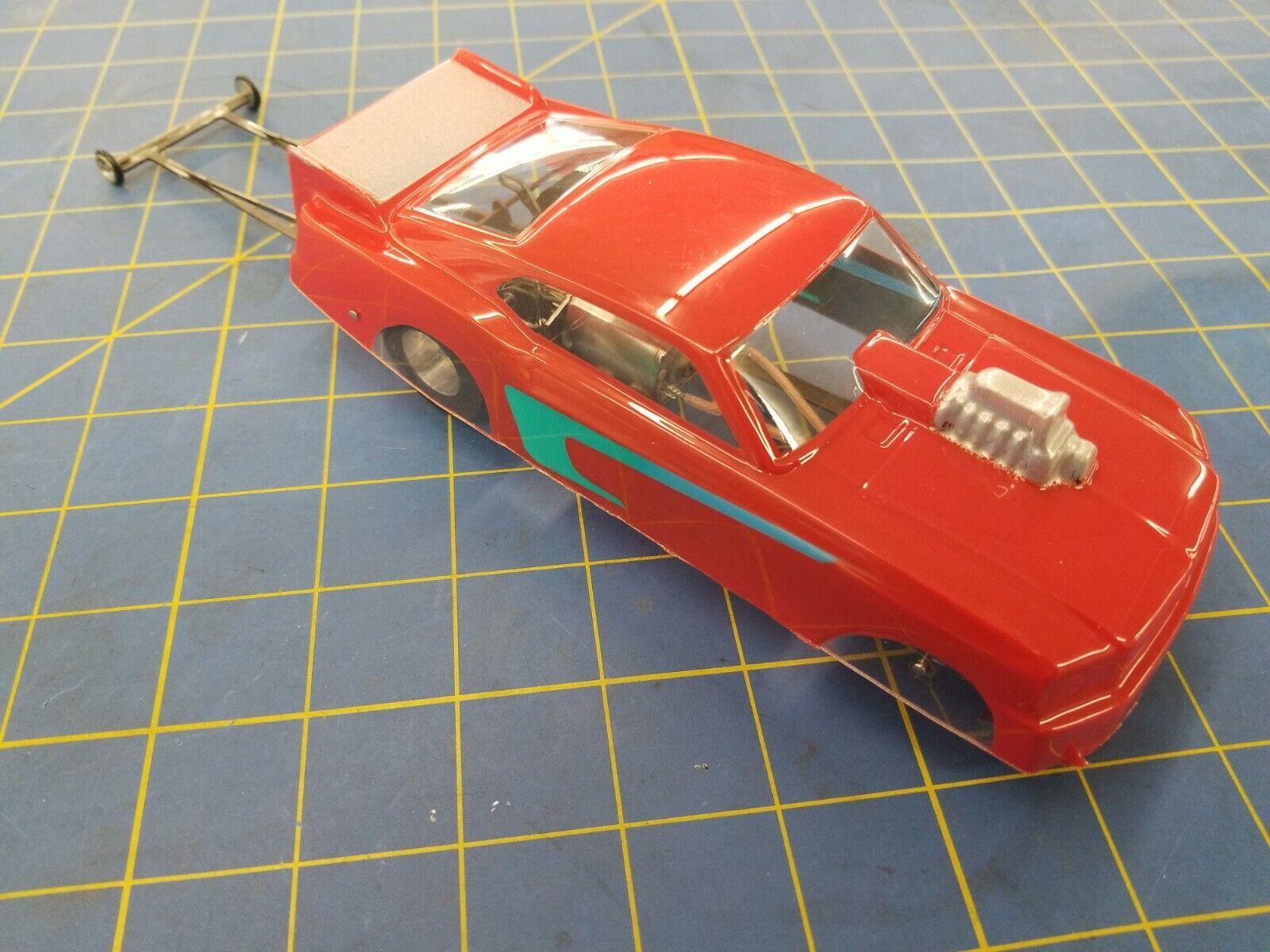 Mi 324 Ready To Run DRAG voiture mustang ROUGE & BLEU AVEC Phoenix moteur acier Châssis 1 24