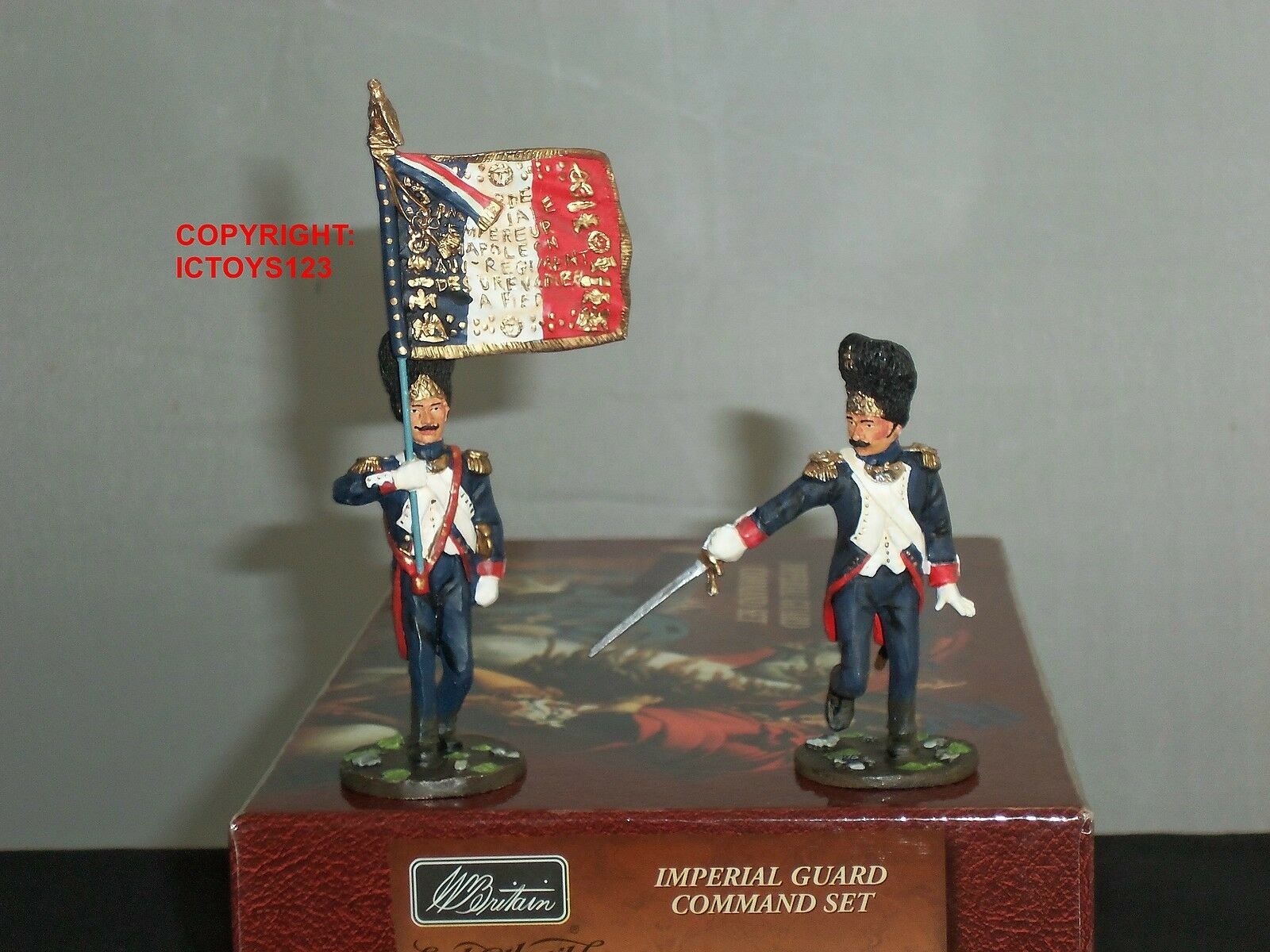 BRITAINS 17363 FRENCH IMPERIAL GUARD NAPOLEONIC WAR TOY SOLDIER COMMAND SET