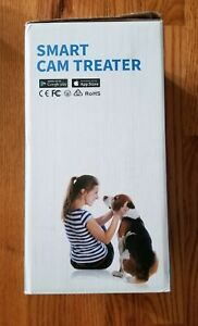 Dog-Cat-Pet-Smart-Cam-Automatic-Pet-Treat-Dispenser-w-HD-Camera-White-150