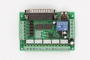 MACH3 5 Axis CNC Interface Board For Stepper Motor Driver