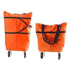 Trolley Wheel Folding Travel Luggage Bag Lightweight Shopping Bag