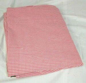 Ralph Lauren Small Red Gingham Queen Flat Sheet 100% Cotton