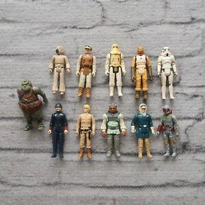 Vintage 1979 - 1983 Star Wars Action Figures Lot Boba Fett Luke Skywalker Kenner