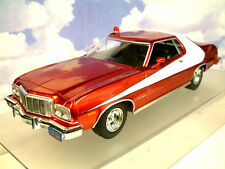 1/18 GREENLIGHT 1976 FORD GRAN TORINO STARSKY & HUTCH RED CHROME LIMITED EDITION