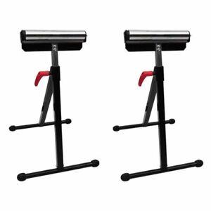 vidaXL 2x Adjustable Roller Stand 67-101cm Scaffolding Foldable Support Holder