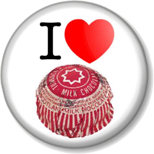 "I Love Heart Tunnocks Tea Cakes 1/"" Pin Button Badge Scottish Chocolate Mallow"
