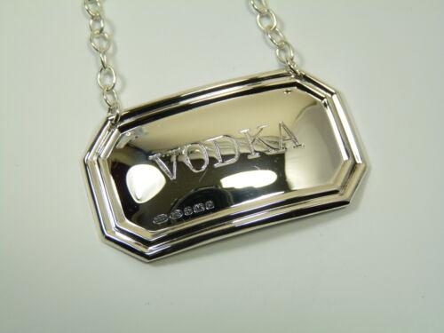 Sterling Silver NEW VODKA Boxed Deco DECANTER // Wine Label