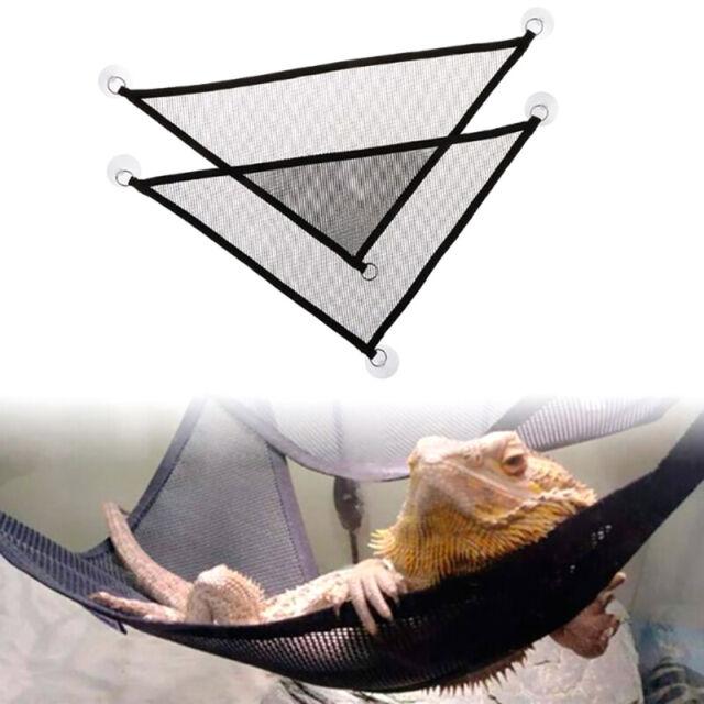 2Pcs Hammock Mesh Sleeping Bed Play Toys Swing For Reptile Snake Lizard Clim _sh