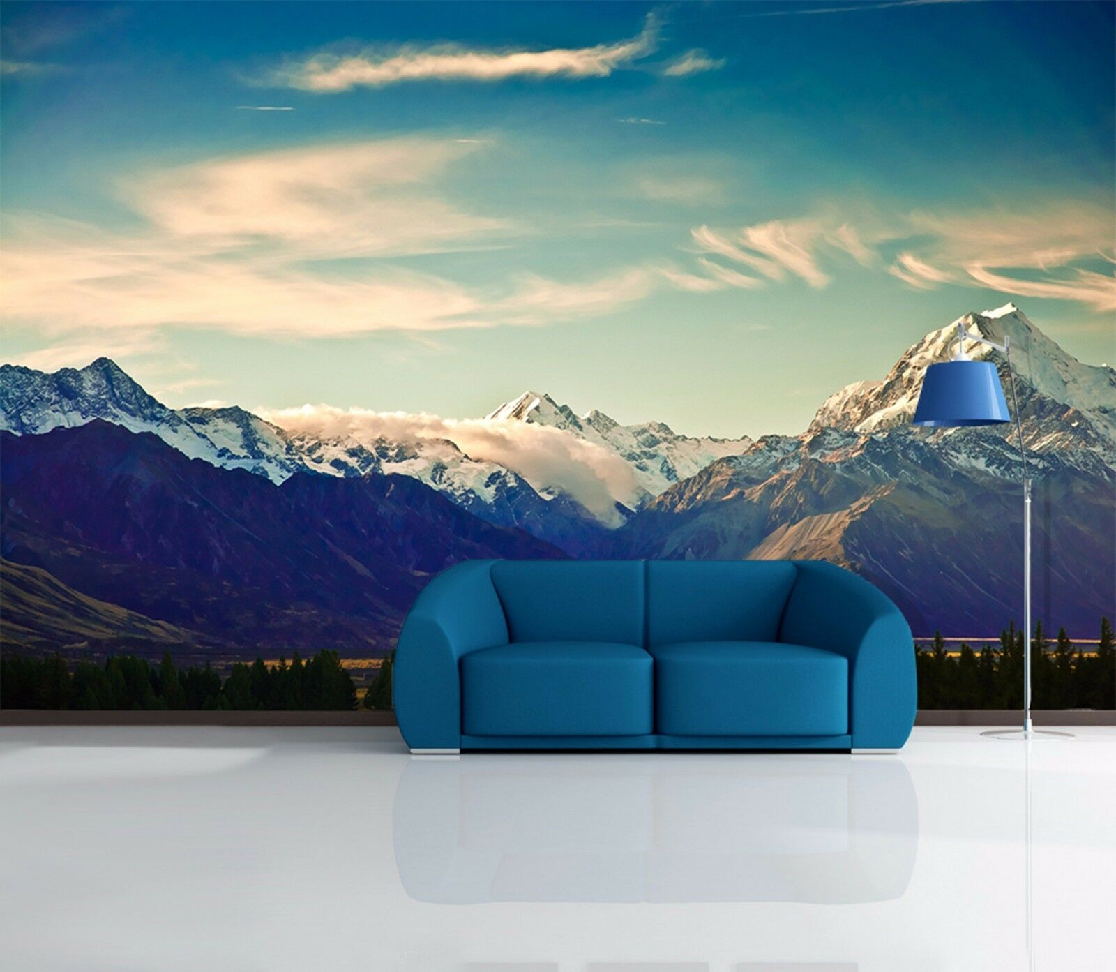 3D Clouds Mountain 231 Wall Paper Wall Print Decal Wall Deco Indoor Wall Murals