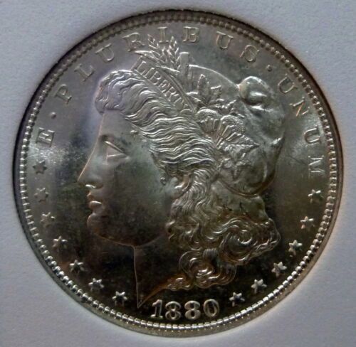 1880 S Morgan Gem Brilliant Uncirculated Silver Dollar Proof Like Luster