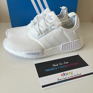 bf5a7919e ADIDAS NMD US UK 5 6 7 7.5 8 8.5 9 9.5 10 11 12 TRIPLE WHITE MESH ...