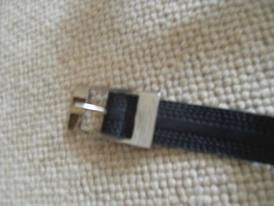"""Cintura Nera Con Dettaglio Cucitura Superiore - 35"""" Long & Circa 1"""" Ampi-mostra Il Titolo Originale"""