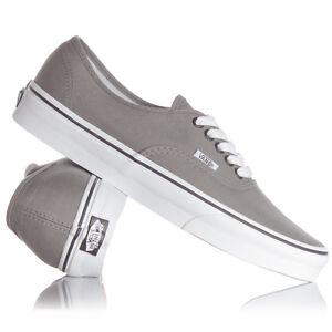 20c4fd8c85 VANS AUTHENTIC PEWTER (GREY) BLACK CANVAS NEW IN BOX SIZE 4 TO 12