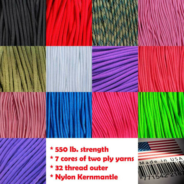 550 PARACORD KERNMANTLE Parachute Cord 7 Strand Type III USA