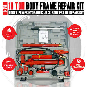 New 10 Ton Porta Power Hydraulic Jack Body Frame Repair Kit Auto Shop Tool Heavy Ebay