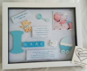 personalised new baby boy frame picture gift keepsake free photo