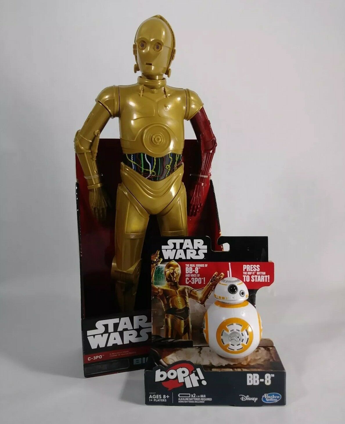 Star Wars Big Figs 18  Red Arm C-3PO Action Figure and Bop-it BB-8  BONUS ITEMS