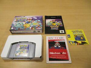 N64 Nintendo 64 juego-pokemon Puzzle League-Embalaje original-pal-rar-Top