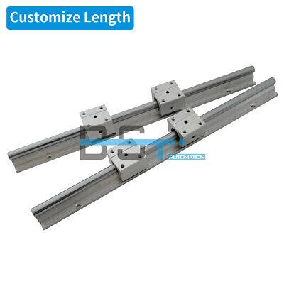 2pcs SBR12-220mm 12mm fully supported linear rail shaft rod