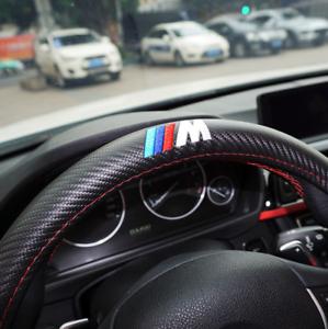 BMW M Sport Carbon Fiber Sport Car Steering Wheel Cover Interior Accessory New