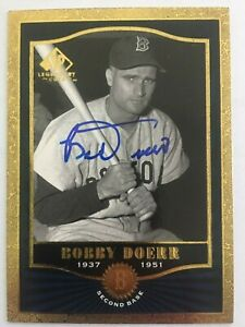 Details About Bobby Doerr Boston Red Sox Auto Signed 2001 Upper Deck Card 62 Hof 1986