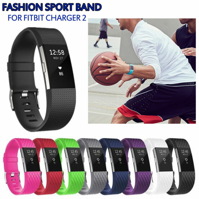 Replacement Wristband For Fitbit Charge 2 Band Silicone Fitness Small Charger