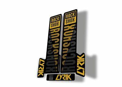 Rock Shox LYRIK 2020 ULTIMATE Mountain Bike Cycling Decal Sticker Yellow Gray