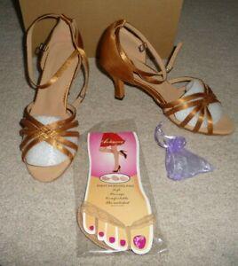ANDONE Womens Latin Dance Shoes Satin Professional Ballroom Salsa Practice Performance Dance Shoes
