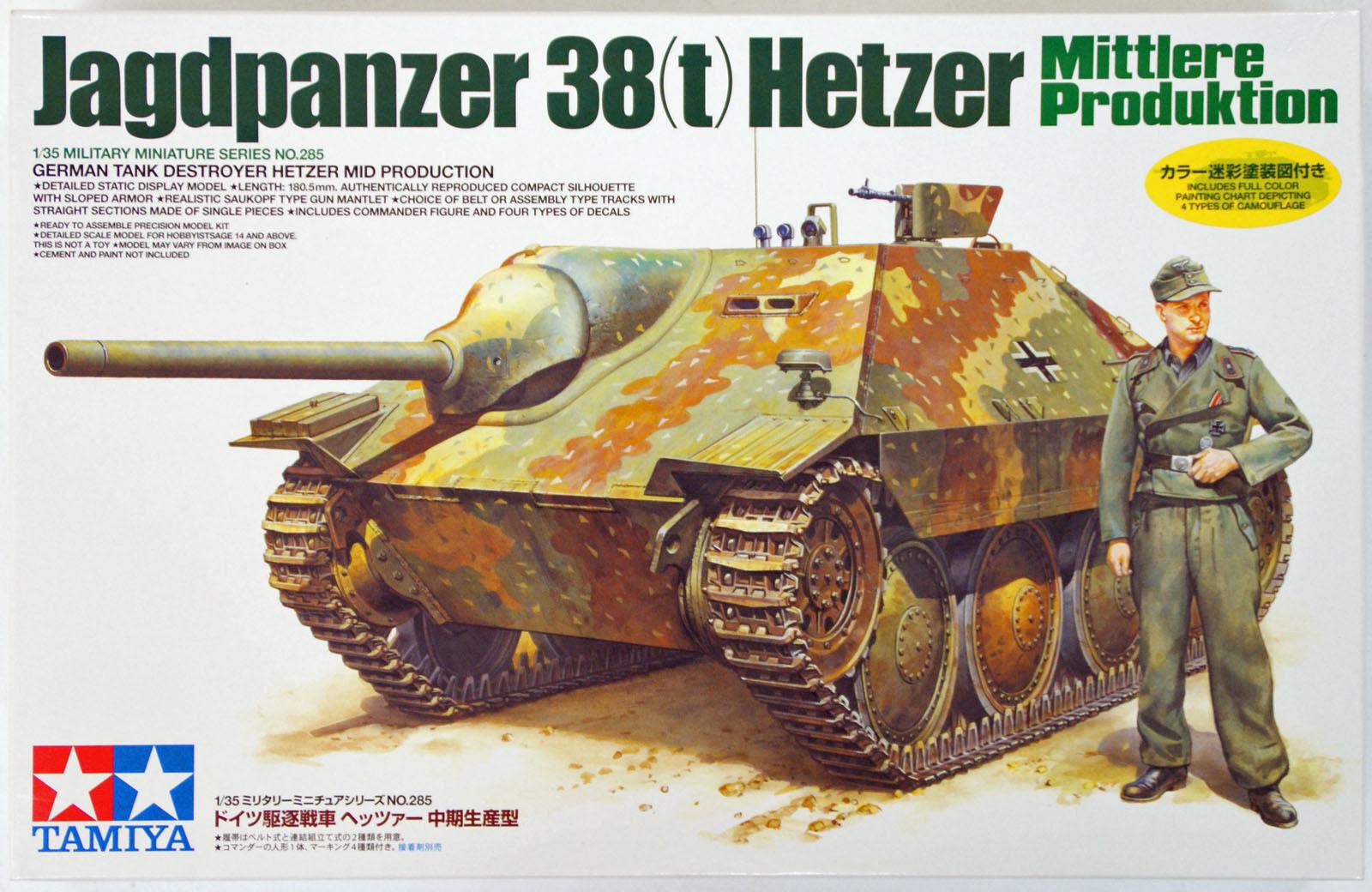 TAMIYA GERhomme JAGDPANZER 38 (t) HETZER Scala 1 35 cod.35285   moins cher