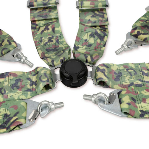 4-Point 3 inch Camouflage Stylish Car Racing Sport Safety Harness Seat Belt Part
