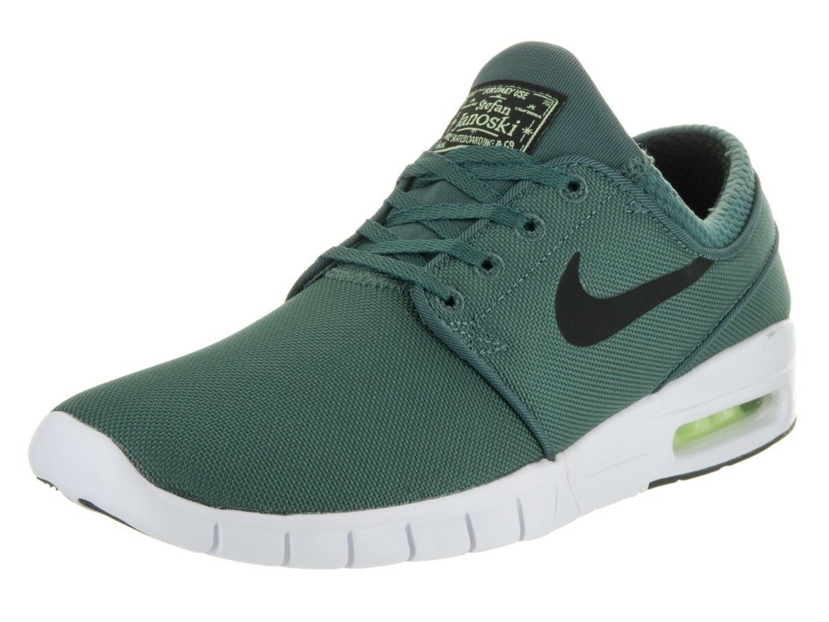 Nike SB Stefan Janoski Max Men's Shoes Dark Hasta/White/Green 631303 307 Sz 12